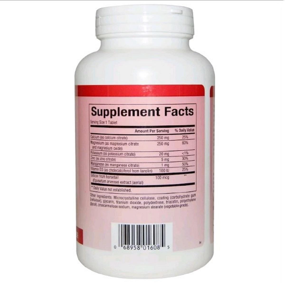 Цитрат Кальция Магния, Витамин D, Calcium & Magnesium Citrate, With D, Natural Factors, 180 Таблеток